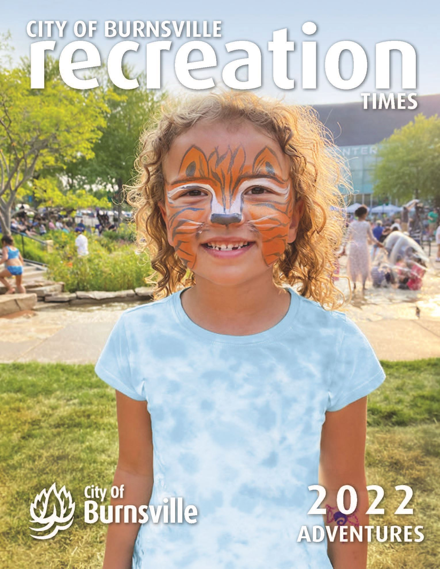 Recreation Times cover featuring kids playing a lawn game in a park