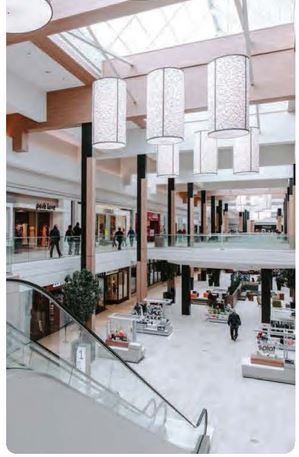 Interior atrium of a shopping center