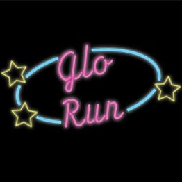 Glo Run logo styled like a neon sign