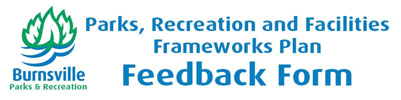 Frameworks Online Form Header - Parks and Recreation logo and text: Parks, Recreation and Facilities