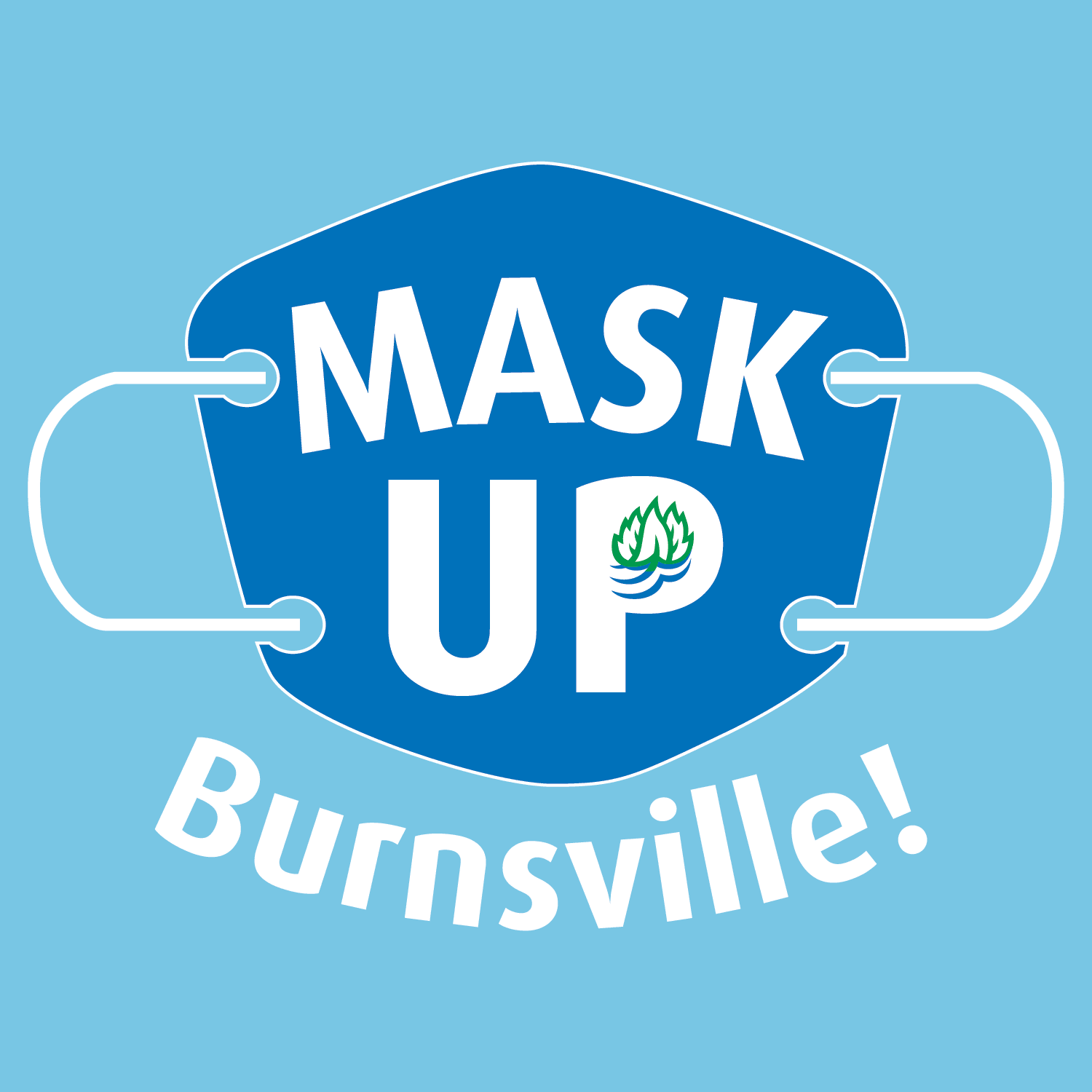 Mask Up Burnsville Logo