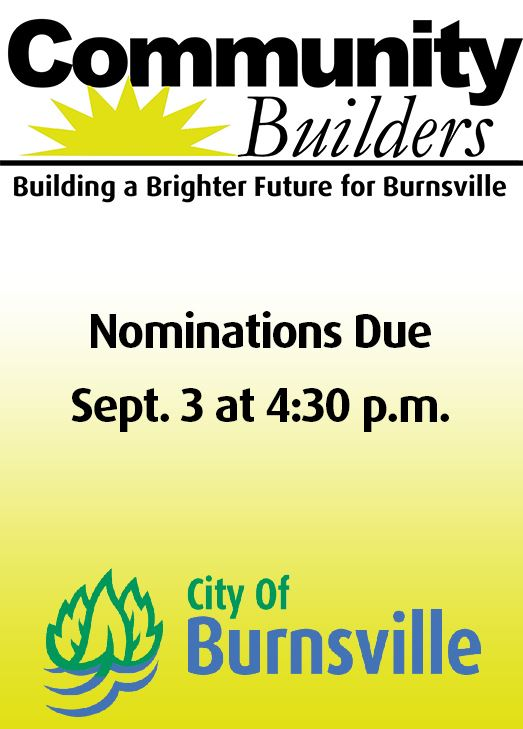 Community Builder logo with text - nominations due by late August