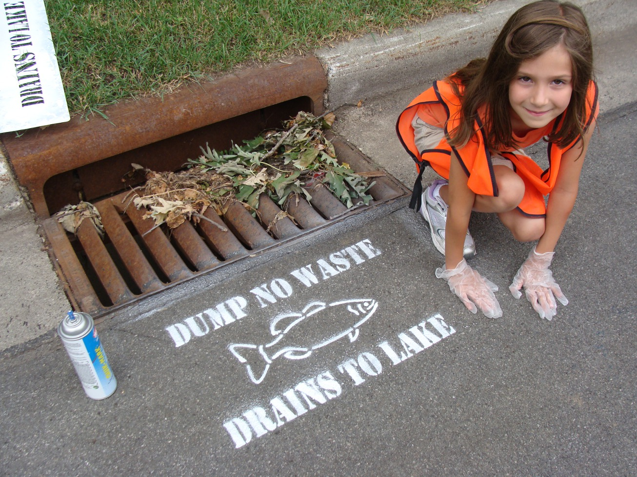 Dump No Waste Drains to Lake