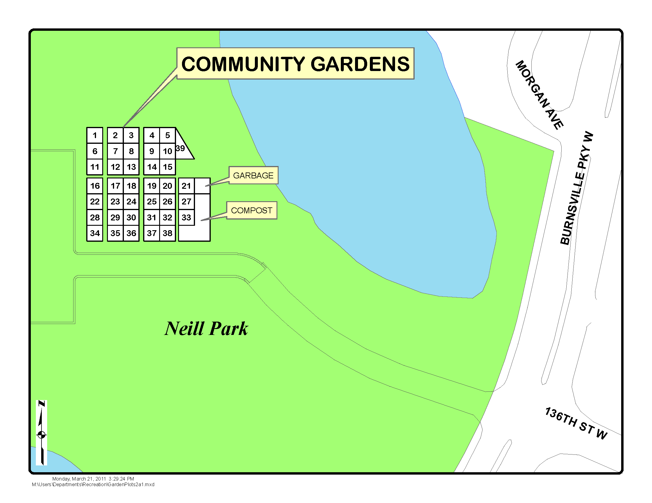 Neill Park Community Garden Map