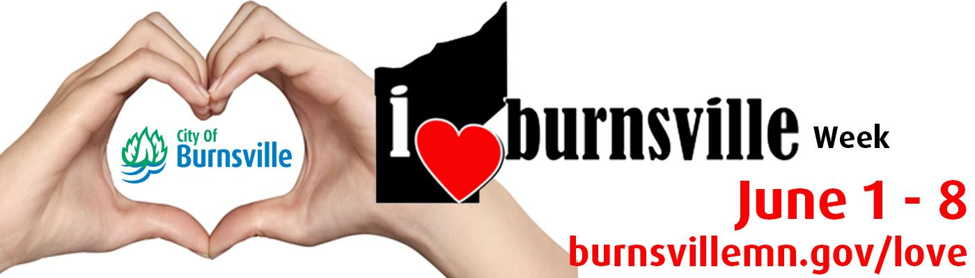 Hands in shape of Heart - I Love Burnsville Week June 1 - 9