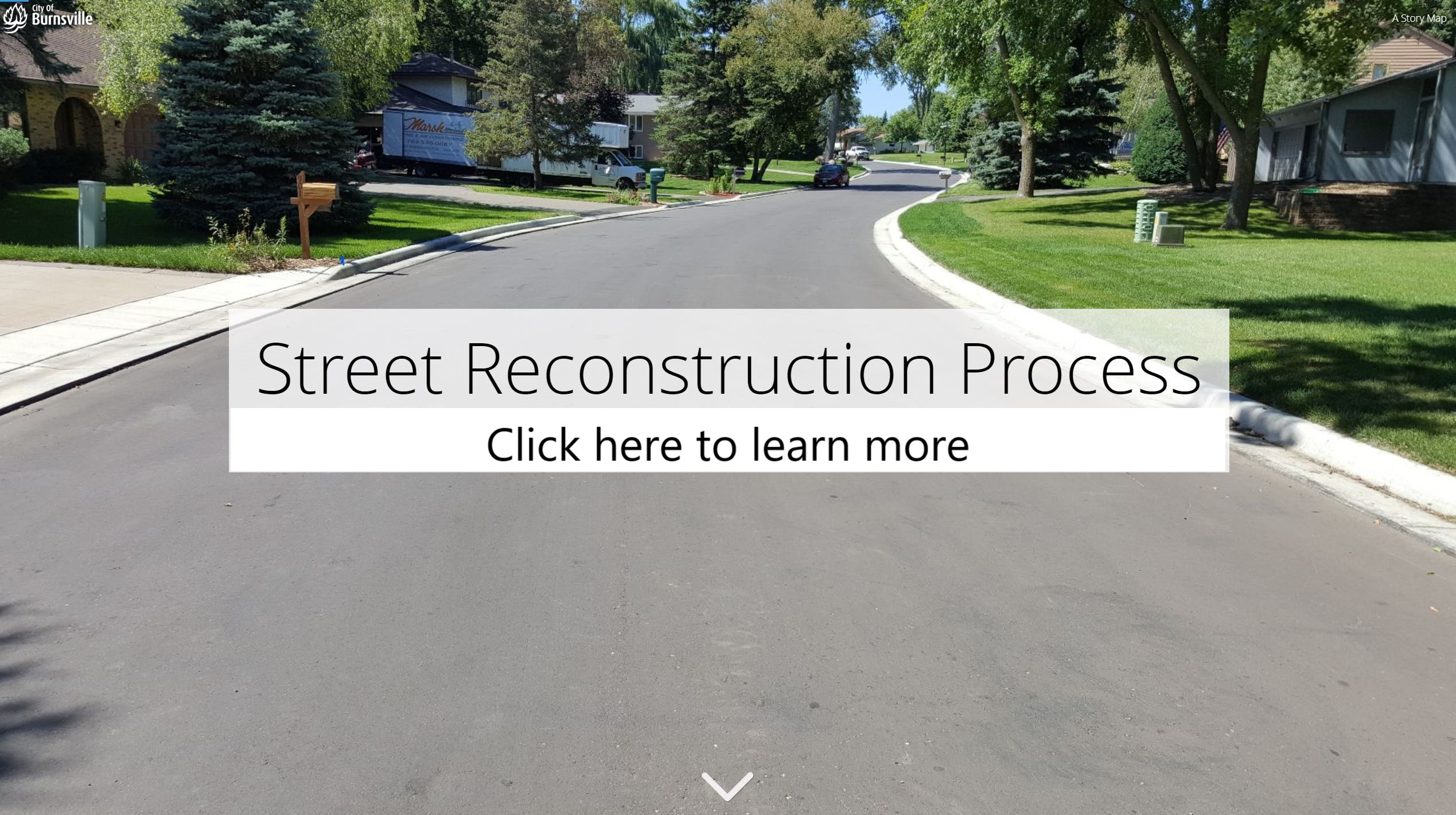 Click here to learn more about the street reconstruction process Opens in new window