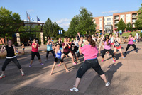 Zumba in Nicollet Commons Park