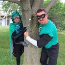 Sustainability Man and Emerald Ash Borer