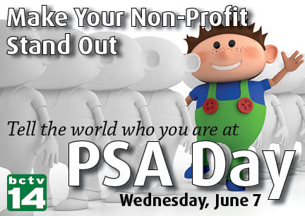 Stand out in the community at non-profit PSA day