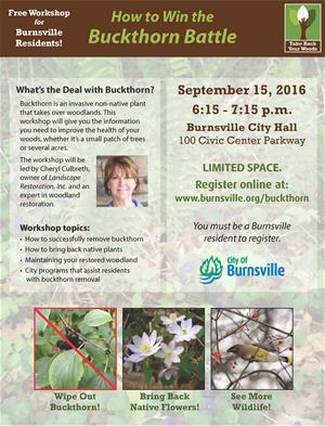 Buckthorn Workshop Flyer 2016