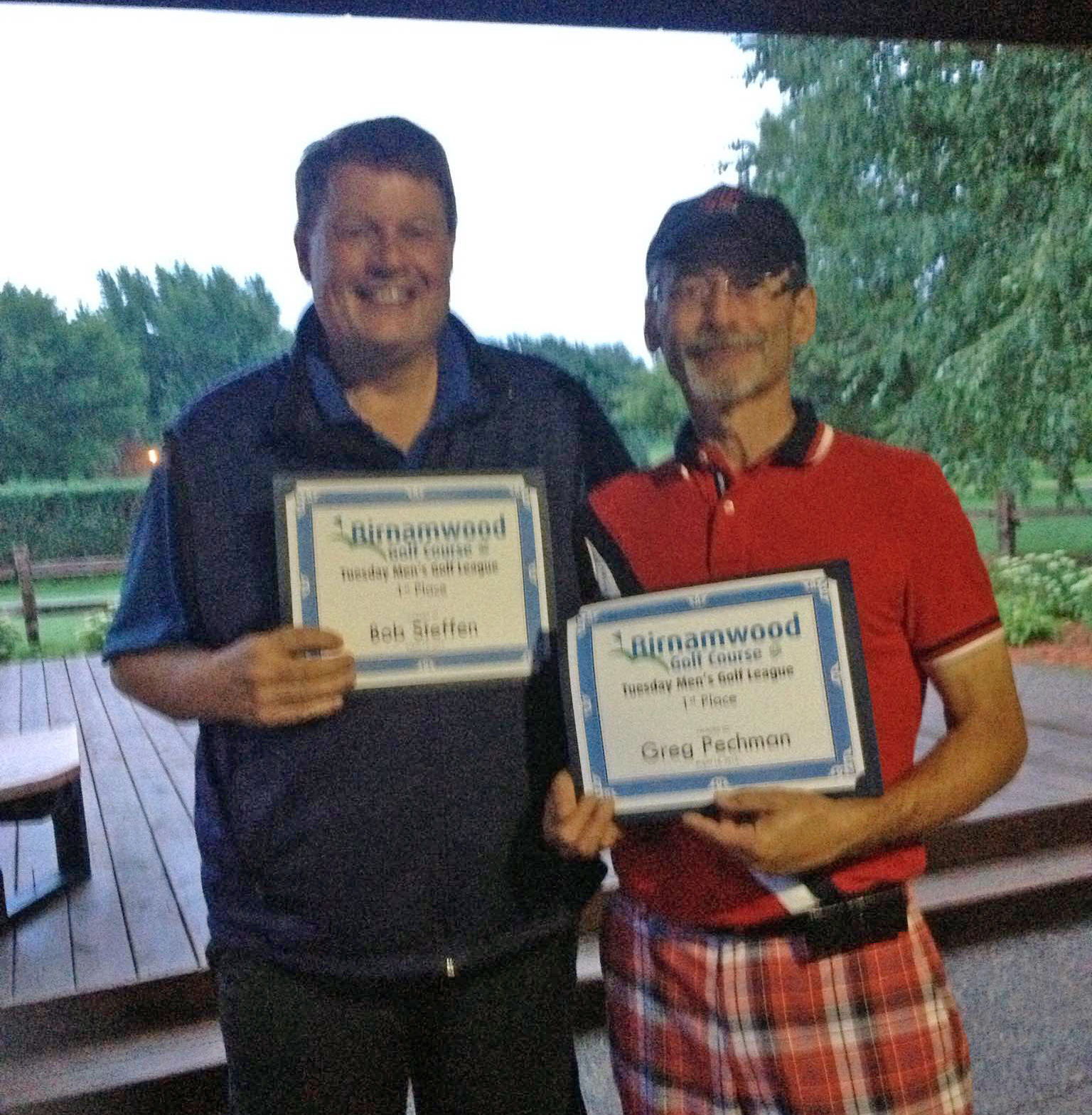2015 Golf, Tuesday Men's League winners, Bob Steffan and Greg Pechman