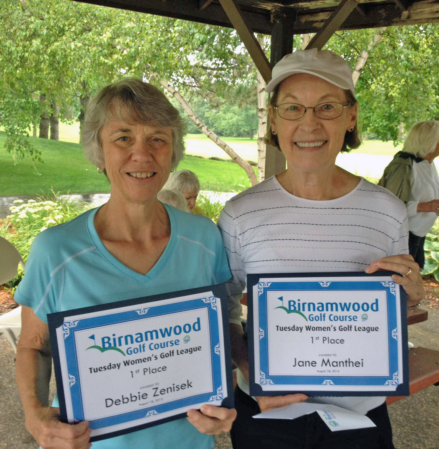 2015 Golf, Tuesday Women's League winners, Debbie Zenisek and Jan Manthei