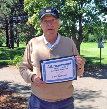 2015 Golf, 50 plus winner, tied for first place, Paul Jacques