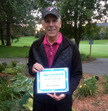 2015 Golf 50 plus league winner, tied for first, Ron Schieck