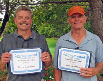 2016 Golf Thursday 50 plus League winners, Dave Rostolian and Dan Lundeen