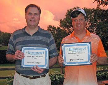 2016 Golf Winners, tied for first place, Darren Roepke and Steve Mellem