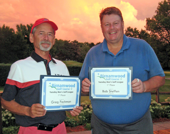 2016 Golf, Tuesday Men's League, Tie for first place, Greg Pechman and Bob Steffen