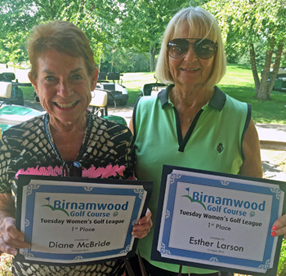 2016 Golf, Tuesday Women's League Winners, Diane McBride-Thompson and Ester Larson