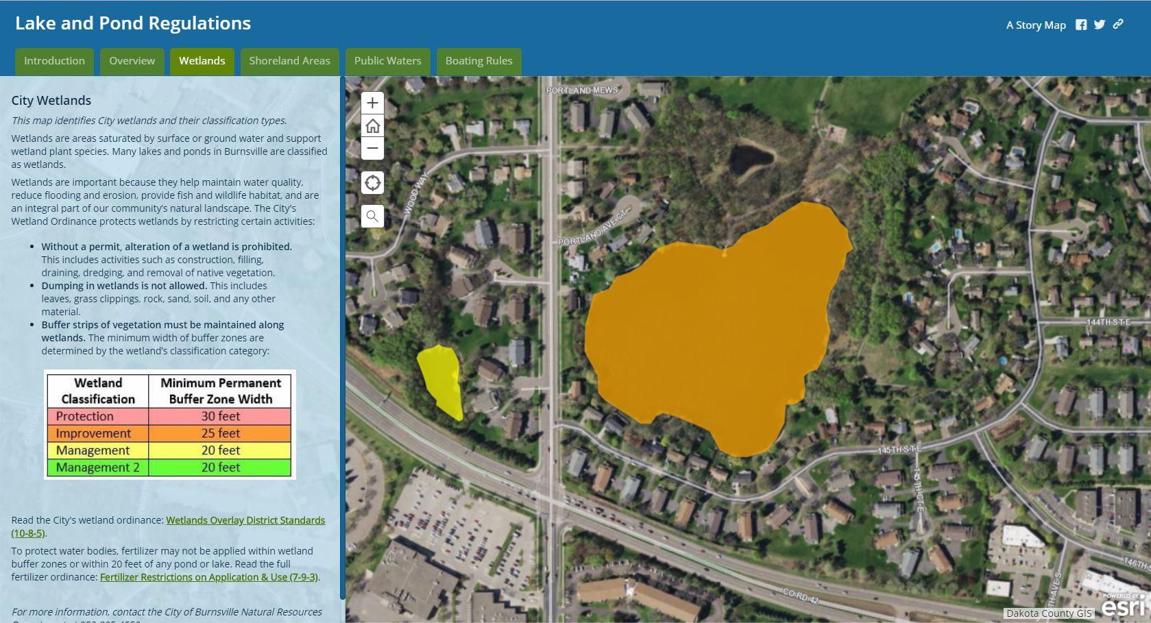 Web Map - Lake and Pond Regulations - Wetlands - close up.JPG