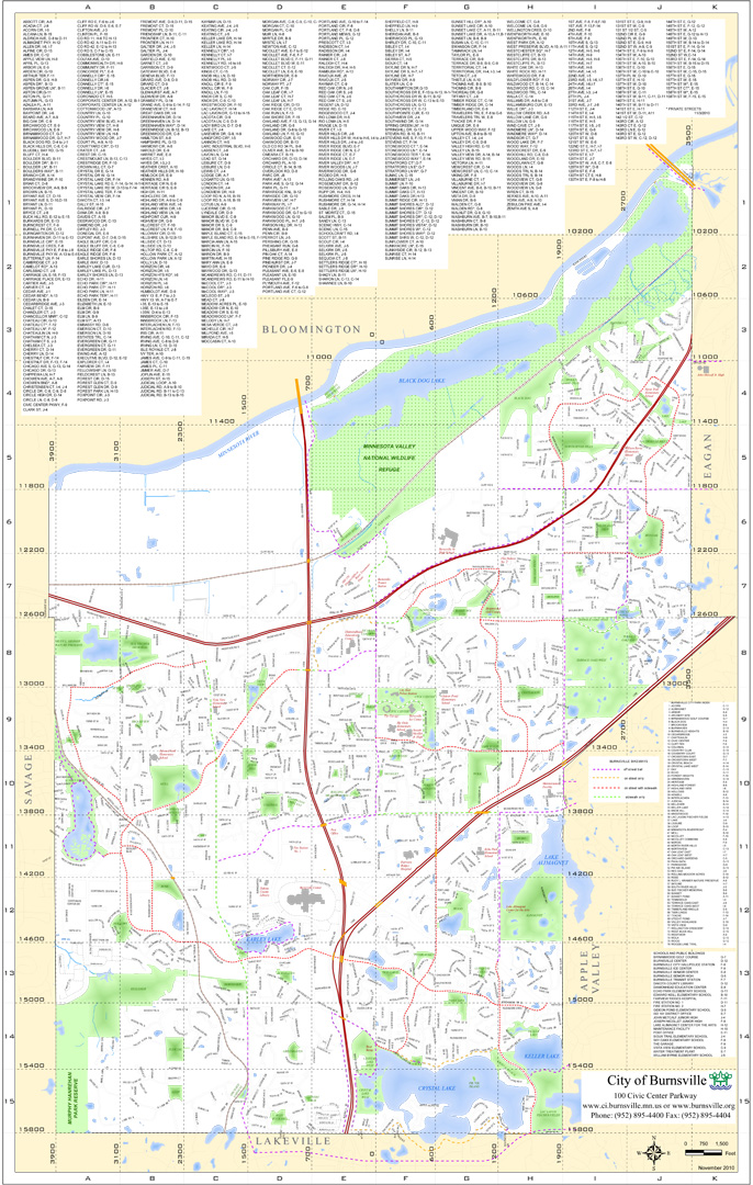 Burnsville MN Official Website Maps - Mn maps
