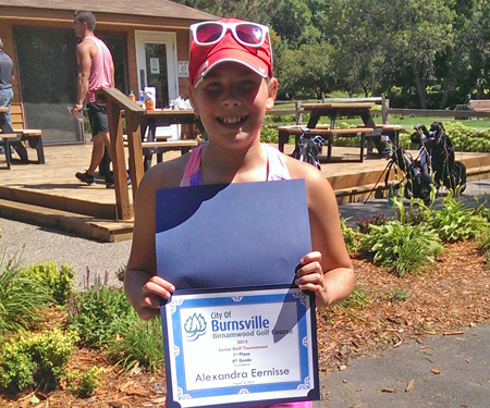 Birnamwood's 2015 junior golf tournament, 6th grade, first place winner, Alexandra Eerisse