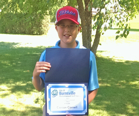 Birnamwood's 2015 junior golf tournament, 6th grade, first place winner, Carson Cornell