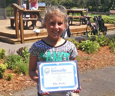 Birnamwood's 2015 junior golf tournament winner, 4th grade, first place winner, Ella Arntz