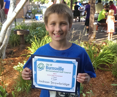 Birnamwood's 2015 junior golf tournament, 5th grade, first place winner, Jackson Strowbridge