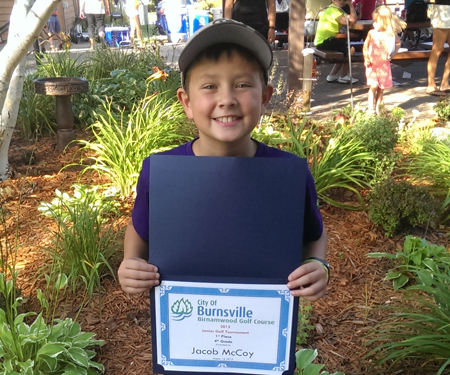 Birnamwood's 2015 junior golf tournament, 4th grade, first place winner, Jacob McCoy