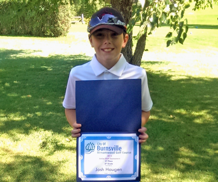 Birnamwood's 2015 junior golf tournament, 6th grade, third place winner, Josh Haugen