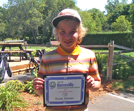 Birnamwood's 2015 junior golf tournament, 7th grade, second place winner, Kade Nielsen
