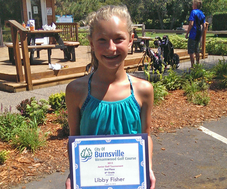 Birnamwood's 2015 junior golf tournament, 6th grade, second place winner, Libby Fisher