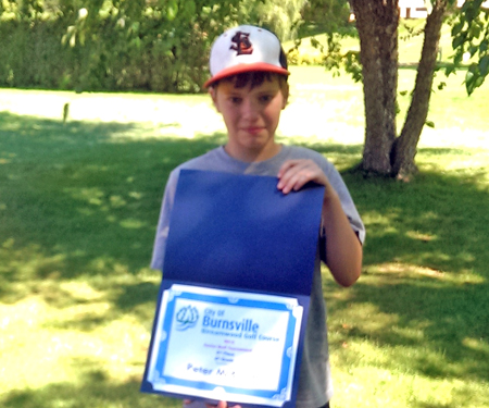 Birnamwood's 2015 junior golf tournament, 6th grade, second place winner, Peter McBride