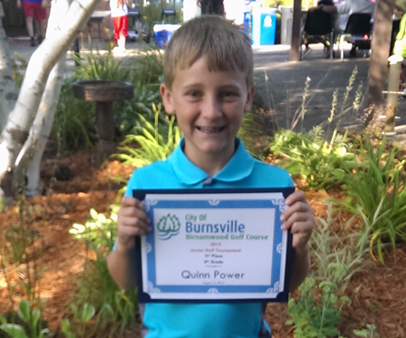Birnamwood's 2015 junior golf tournament, 4th grade, third place winner, Quinn Power