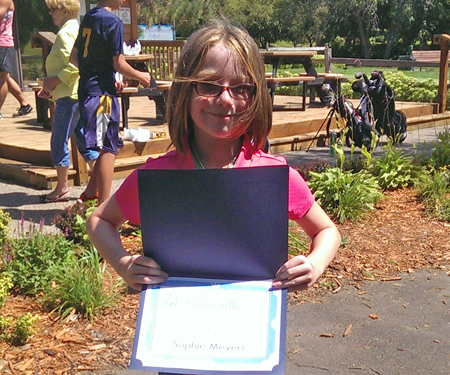 Birnamwood's 2015 junior golf tournament, 4th grade, third place winner, Sophia Meyers