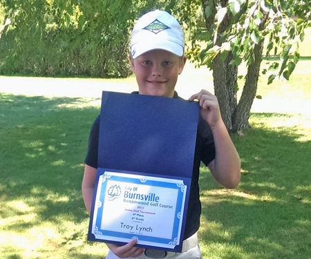 Birnamwood's 2015 junior golf tournament, 6th grade, fourth place winner, Troy Lynch