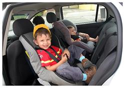 Toddler and infant in rear-facing car seats