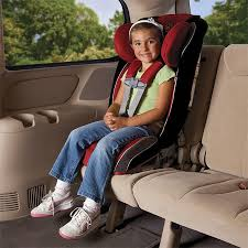Child in forward-facing car seat