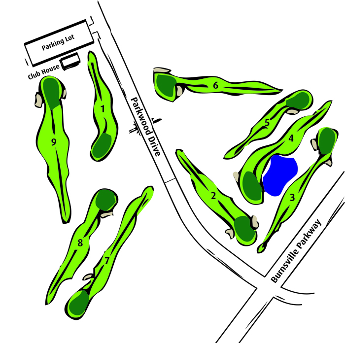 Map of Birnamwood Golf Course